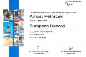 22_European Record 50m Butterfly 2009
